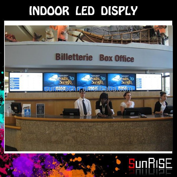 super slim led monitor P6 aluminum truss trade show booth Indoor Full Color Commercial Advertising Display Screen