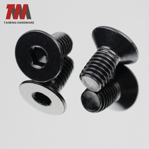 Carbon steel black Plated flat head hexagon countersunk head bolt