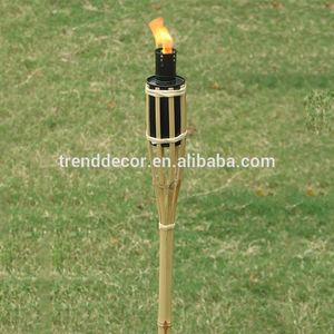 SuperSeptember Camping Supplies Outdoor Lighting Camp Kerosene Lamp Alcohol Bamboo Tiki Torch