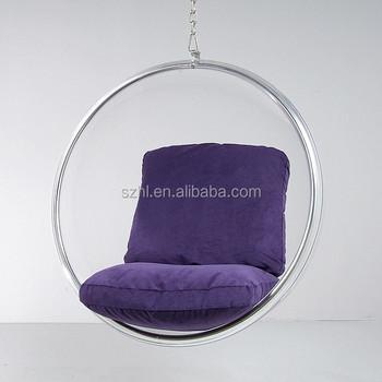 Rond Acrylique Transparent Chaise Suspendue