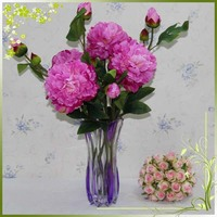 Peony silk cheap artificial fake flowers real touch fresh cut peonies