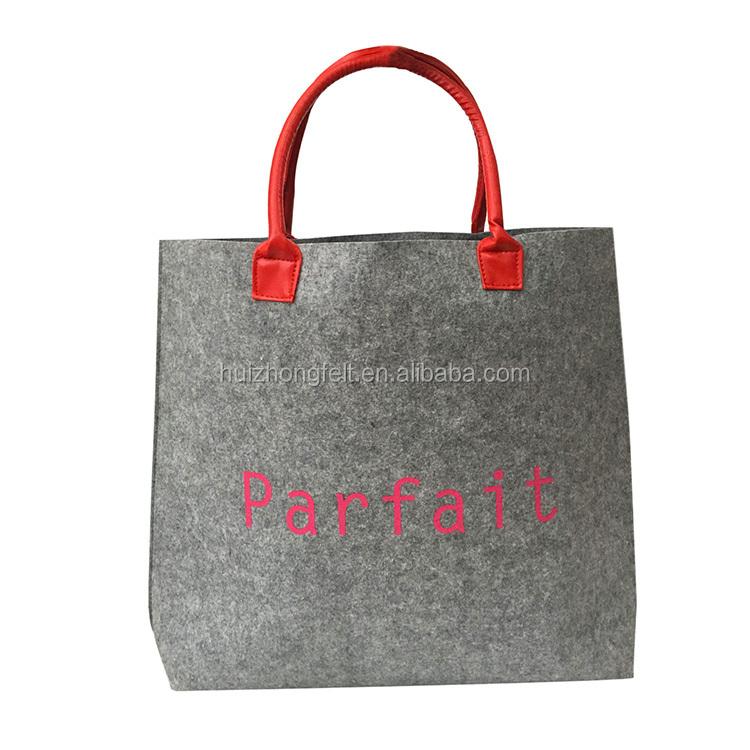 Customized felt damen handtasche einkaufstasche