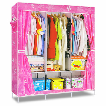 Foldable simple wardrobe Metal wardrobe closet cabinet