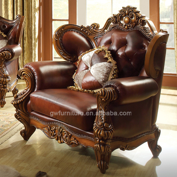 Beautiful Classic Pure Leather Sofa Set,High End Leather