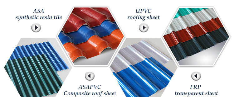 Anti-corrosion flame retardant roof cover sheet heat resistant upvc roofing tile for house