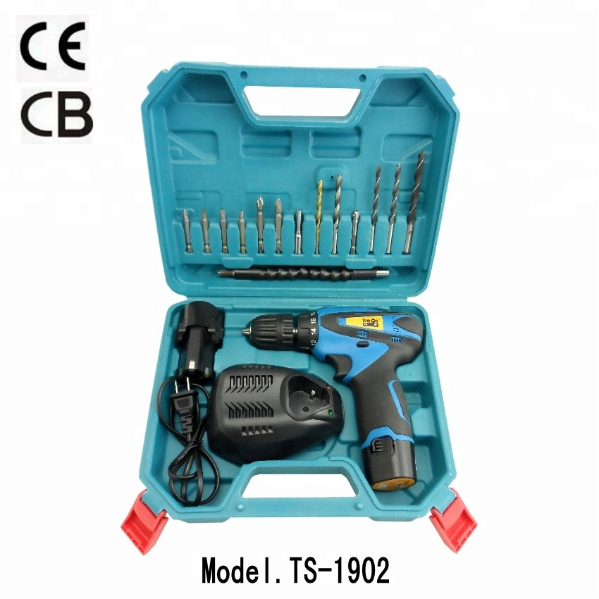KaQi power tools set TS-1902 mini cordless <strong>drill</strong> 12V two speed CE&CB&ROSH certificate 10.8V/12V lithium battery <strong>drill</strong> set