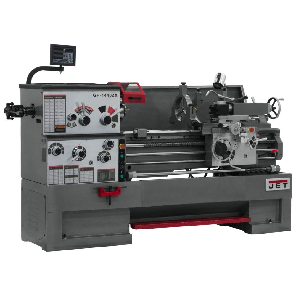 JET GH-1440ZX Lathe with NE DP700L DRO 2 AX With TAK and CLLT