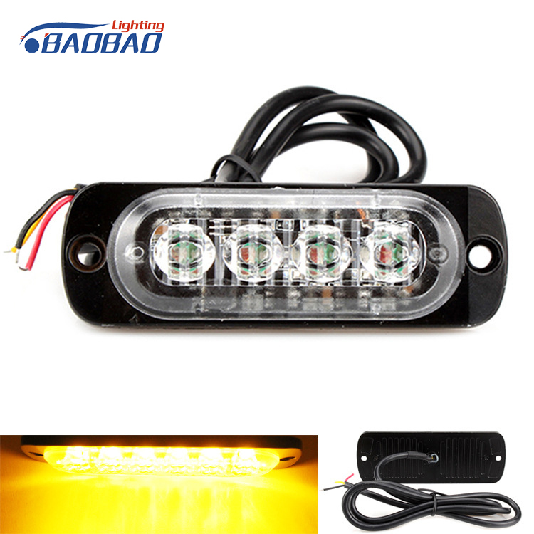 Super thick Aluminum material 12-24v 6w Memory function universal led telltale lamp warning light