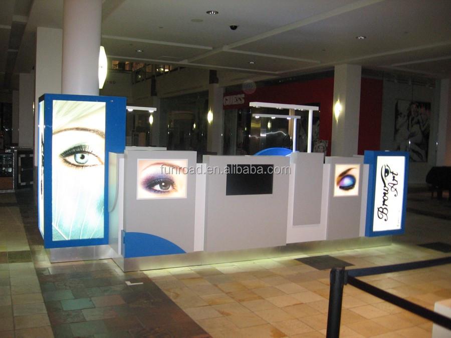 Beauty Salon Eyebrow Threading Kiosk With Mirrors And Led Lights ...
