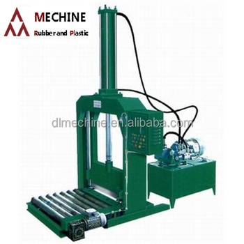 Rubber tyre cutting machine