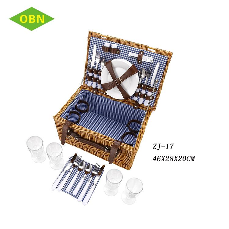 Al por mayor vacía de picnic de mimbre cesta 4 persona