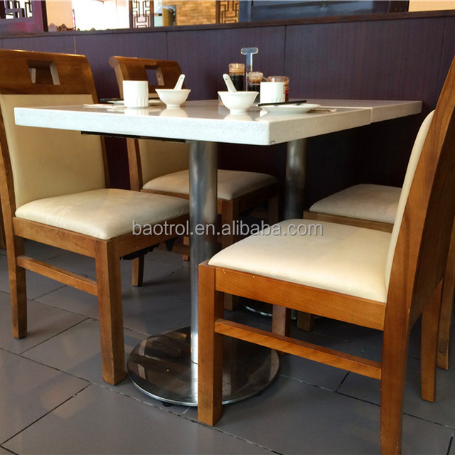 Easy To Clean White Marble Table Tops For Restaurant