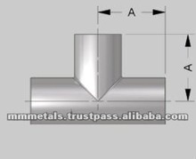 sch 40 stainless steel equal tee