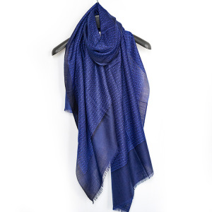 Print Men merino wool Scarf Mercerized Wool Scarves For Men