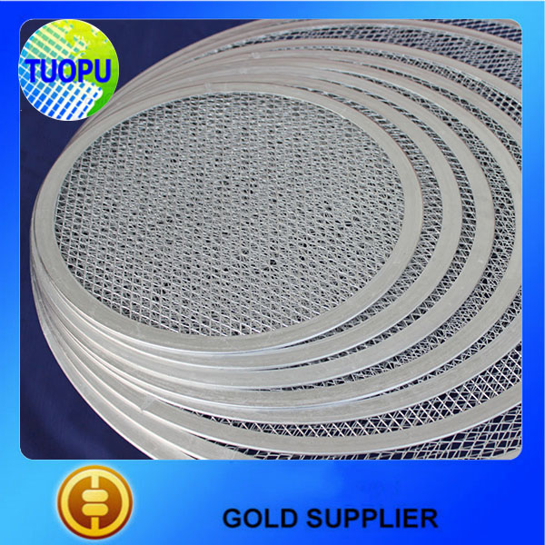 China supplier aluminum seamless round mesh pizza screen 7''- 22''