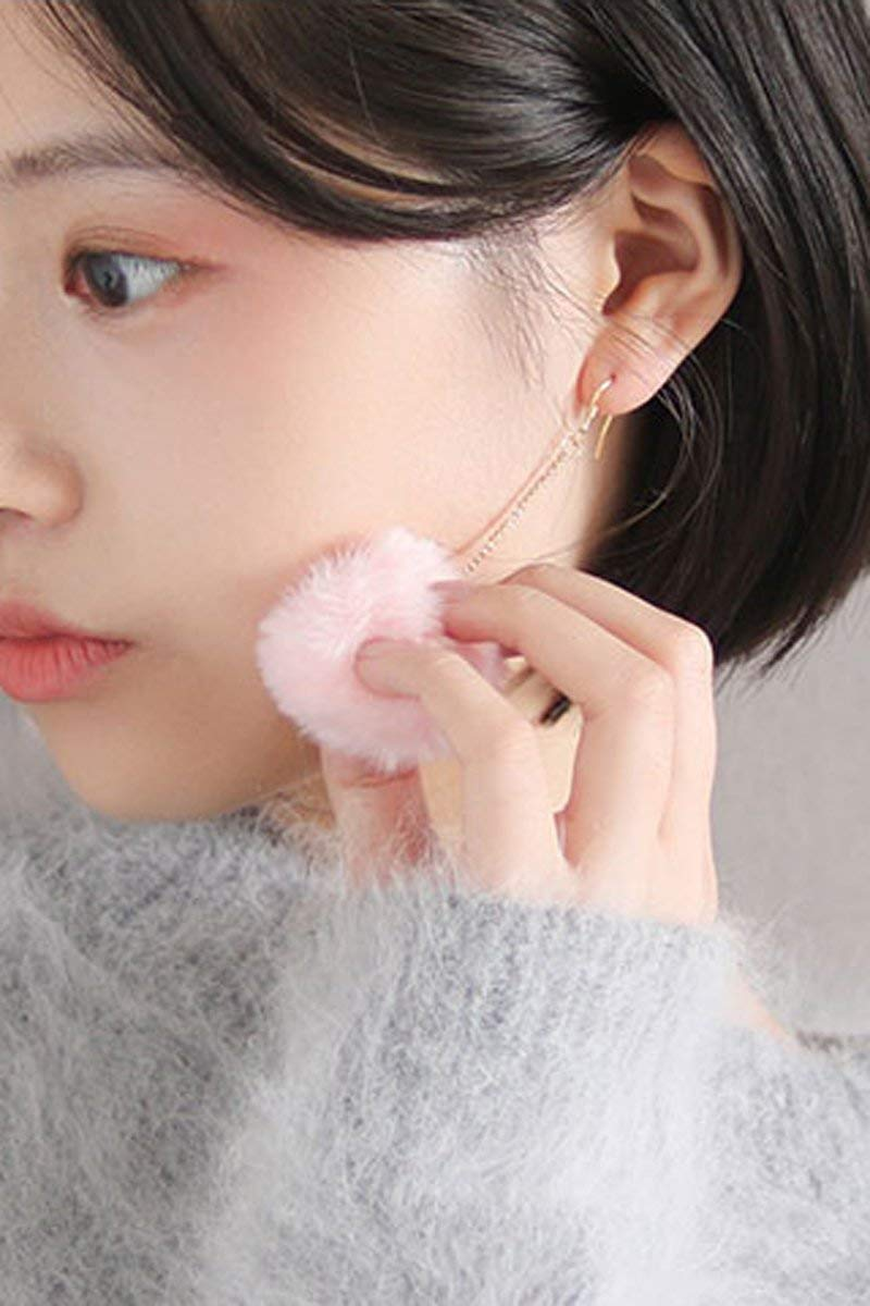 Woman Fashion Gift Cute Plush Rabbit Hair Girls Models Long Ball Earrings Earring Dangler Eardrop Ear Clip Women (White Rabbit Ear Hook Section