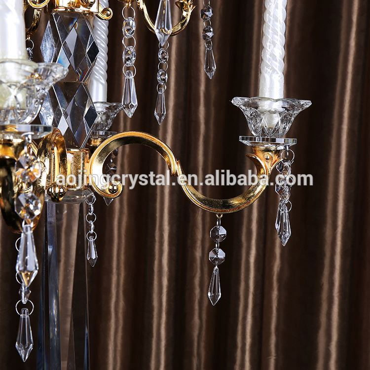New coming simple design wholesale crystal candle holder fast delivery