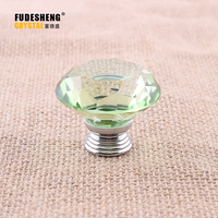 40mm Modern Fashion K9 Crystal Diamond Glass Furniture Handles Hardware Drawer Wardrobe Kitchen Cabinets Cupboard Pull Door Knob
