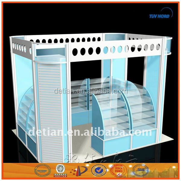 China customized durable makeup display stand waterproof display cabinet metal trade show stand