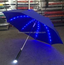 New Arrival Rib Light up Blade Runner Style LED Umbrella with Flashlig