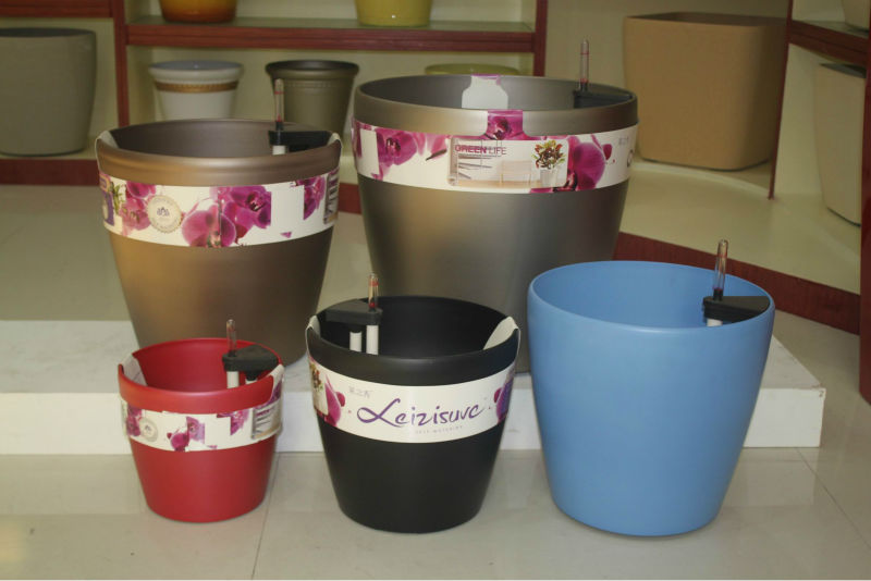 Colorful plastic ceramic round flower POTS, plant nursery, garden decoration
