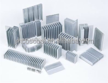 Extruded Aluminum alloy heatsink with anodizing and CNC machining