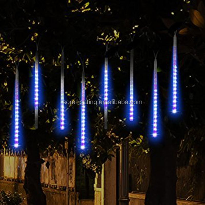 outdoor led christmas meteor shower light outdoor led christmas meteor shower light suppliers and manufacturers at alibabacom - Outside Led Christmas Lights