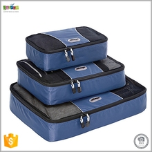 Justop Best Sale 3pcs Travel Organizers Packing Cubes Set with Laundry Bag