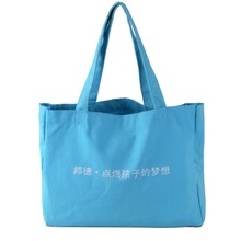 China supplier cheap custom canvas foldable shopping tote bag
