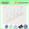 wall hook plastic flat nail cable clips/electric wire cable clips