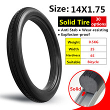 14*1.75 Bicycle Fixed Free Inflatable Solid Tire 14x1.75 Anti Stab Riding MTB Road Bike Tire