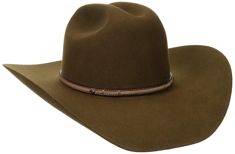 d36d7831f0965 Get Quotations · Stetson Men s Powder River 4X Buffalo Felt Cowboy Hat -  Sbpwrv-754023 Mink