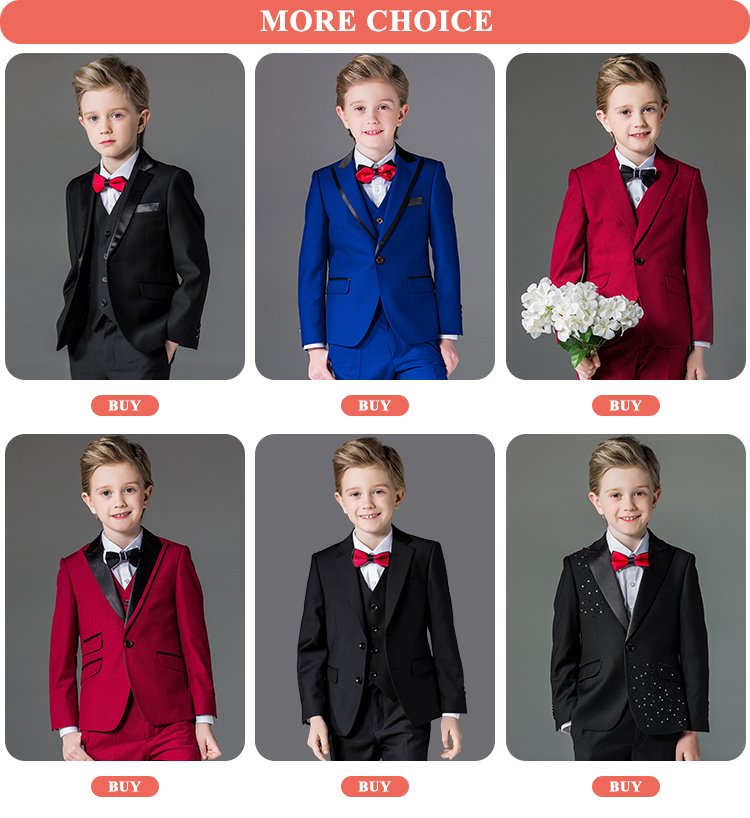 Elpa Fashion Kids Wedding Suits Formal Blue Made To Measure Suits ...