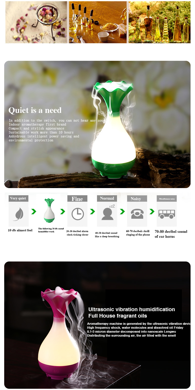 Wholesale Ultrasonic Aromatherapy Essential Oil Air Humidifier ...