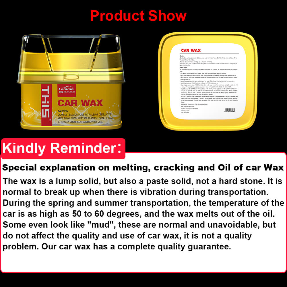 China Car Detailing Products Wholesale polishing machine private label hard wax auto car carnauba polish car wax