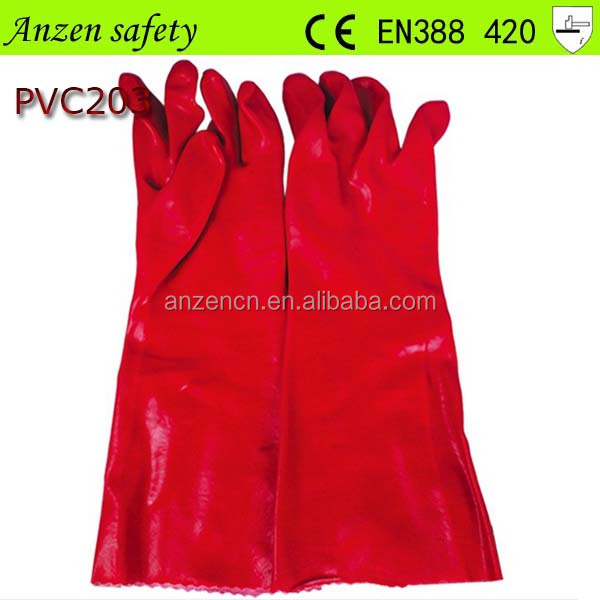 china supplier oil resistant long arm pvc glove