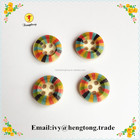 4 holes custom design wood clothing button,fancy round garment button digital printing
