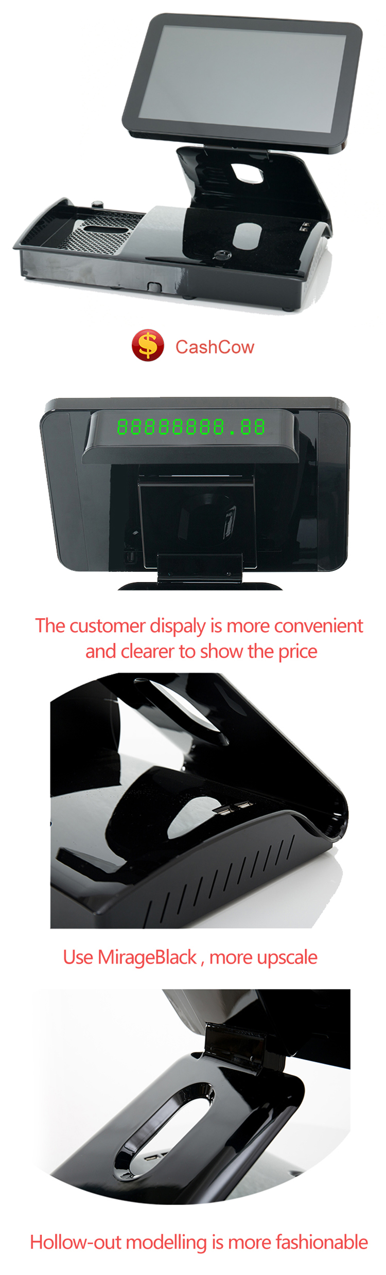 New model touchscreen pos system for restaurant