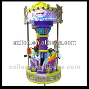 charming indoor playground 3 seats mini carousel for sale