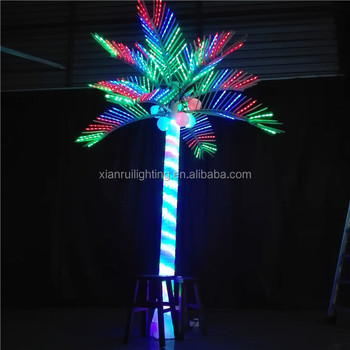 promotion china made led artificial coconut tree outdoor led palm tree light for decoration