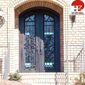 Custom Wrought Iron Front Entry Doors