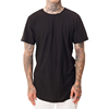 New style mens black cotton long tail t shirts for sale
