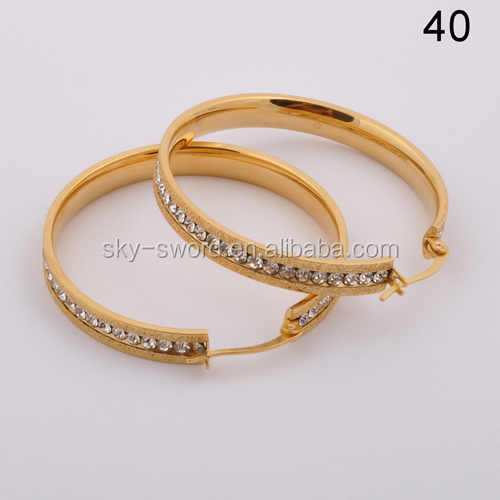 New 2018 Latest Fancy Design Gold Earring Women In Compeive Price Product On Alibaba