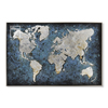 Seven Wall Arts Abstract Vintage Oil Painting Home wall decoration World Map Canvas Painting Home Decor