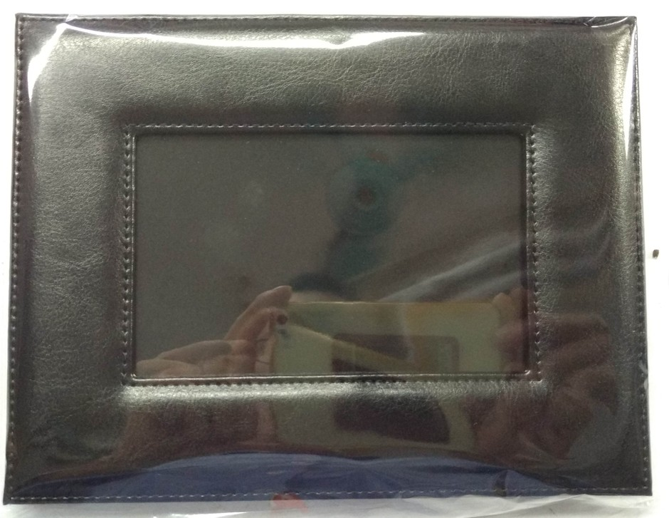 custom foldable leather picture frame leather photo frame