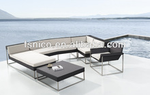 Stainless Steel Rattan Furniture Poly Rattan Outdoor Furniture