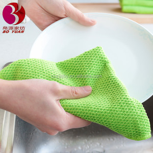 Pearl Polyester and polyamide non woven kitchen dish floor glass cleaning cloth