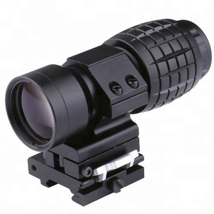 GSP0312--3X Magnifier Scope Sight Tactical with Flip to Side 20mm Rail Mount Scopes