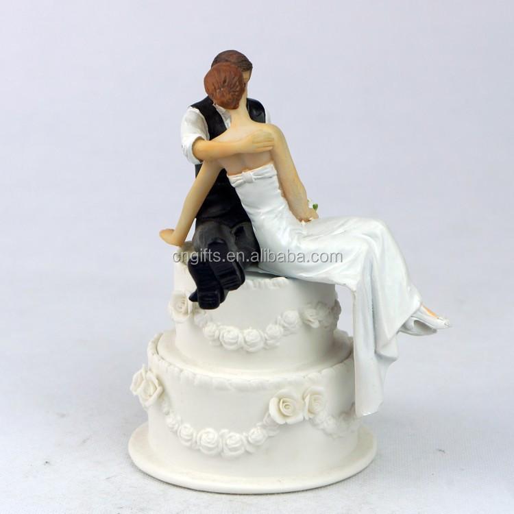 Wholesale Wedding Cake Decoration Hugging Figurines Resin Bride And Groom Cake Topper Buy Bride And Groom Cake Topper Funny Wedding Cake