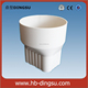 PVC rain water gutter system,downspout square to round joiner
